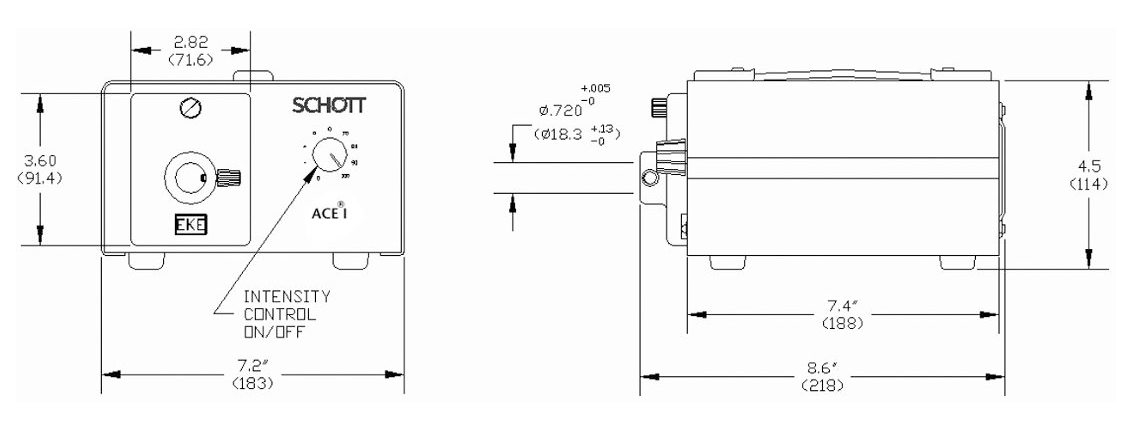 Schott Ace Dimensions and Specifications